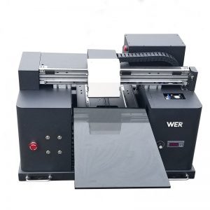 2017 barata màquina d'escriptori de mida A4 uv led impressora digital plana WER-E1080UV