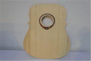 Mostra de guitarra de fusta a partir de la impressora A2 UV de mida WER-DD4290UV