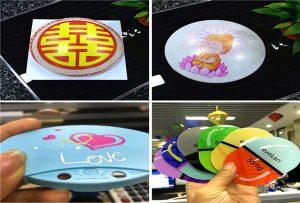 Impressió de mostres de plàstic a partir de la impressora A1 uv 6090UV